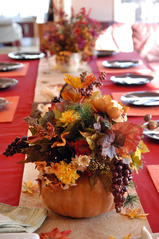 Roses on Your Thanksgiving Day Table & flowerlink
